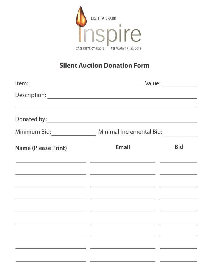 silent auction bid sheets carbon copy | HYNVYX