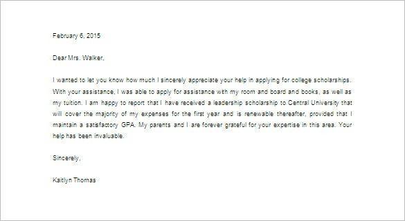 appreciation letter to teacher