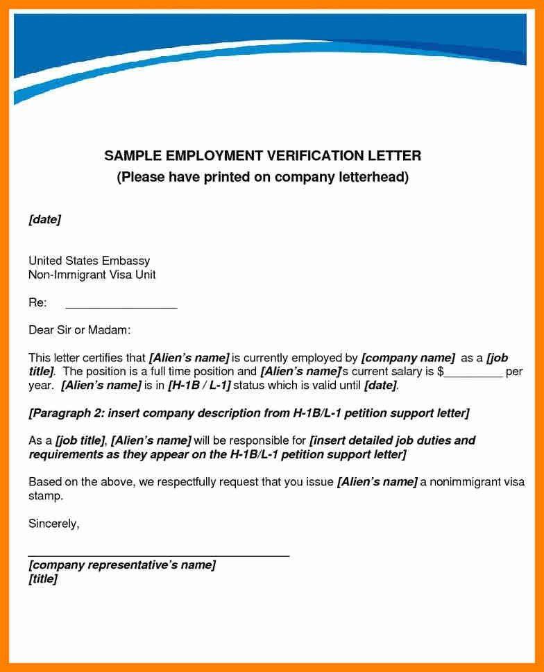 request for employment verification letter