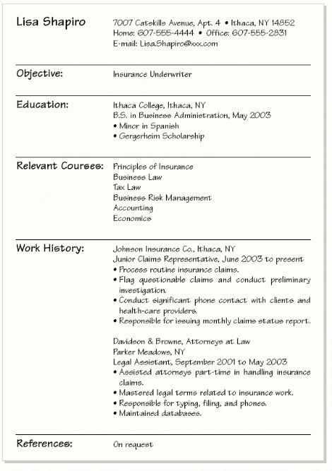 College Resume Example | berathen.Com