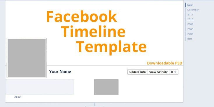 Facebook Timeline Cover Template 2016 With PSD