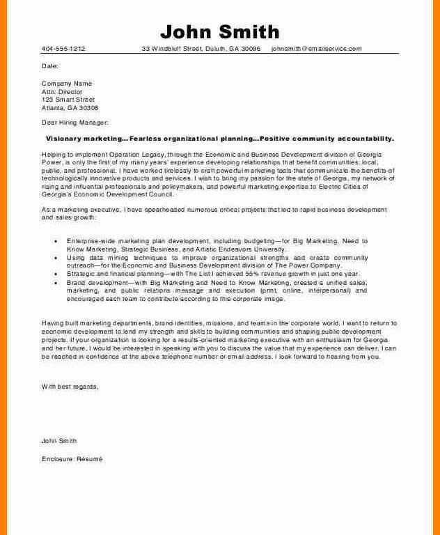 formal covering letters
