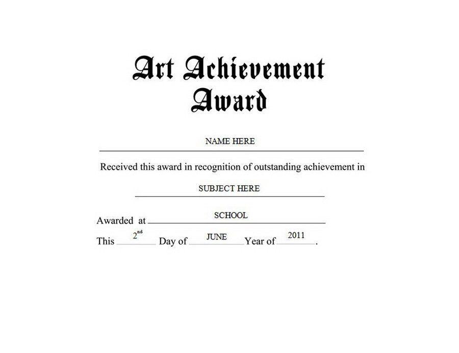 Art Achievement Award Free Templates Clip Art & Wording | Geographics