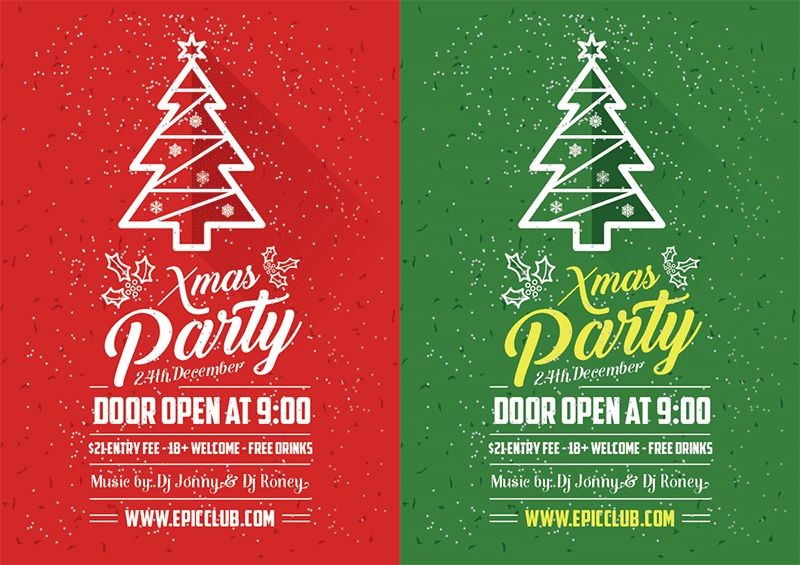 10+ Best Free Christmas Party Flyer / Poster Design Template in Ai ...