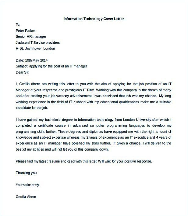 Job Cover Letter to Secure a Job