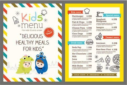 Restaurant menu template vintage vector Free vector in ...