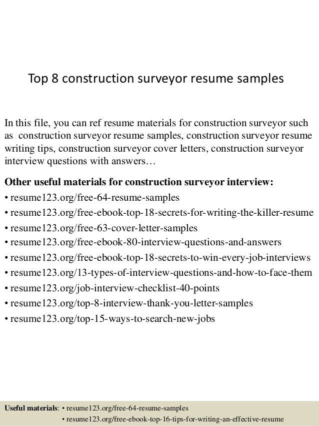 Construction Resume Examples. Construction Resume Template 9 Free ...