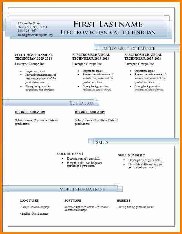 8 free resume template download for word budget template - Free Resume Templates Download For Word