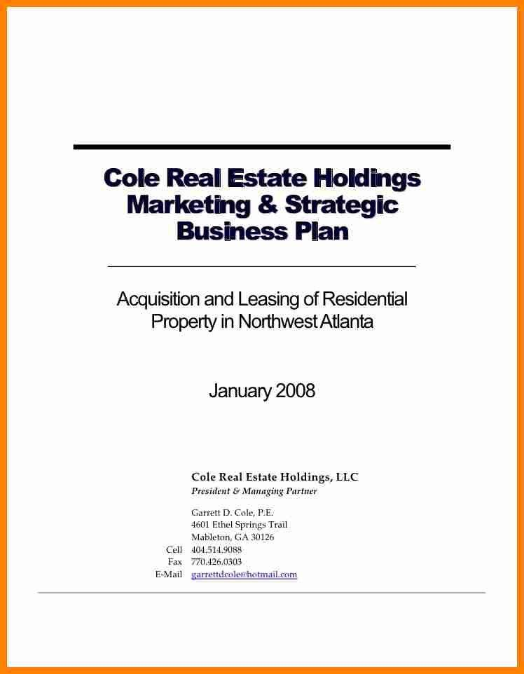 Real Estate Business Plan Template. Real-Estate-Business-Plan ...