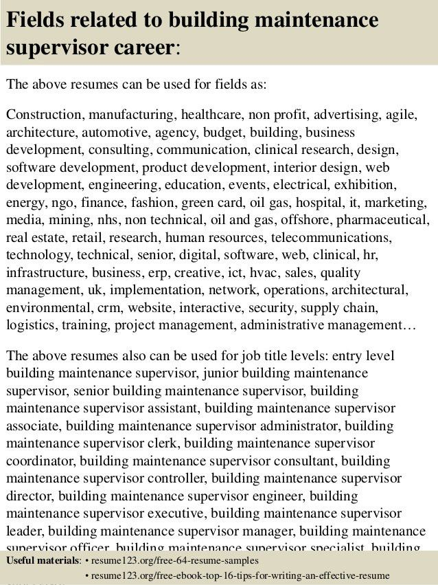 Facilities Maintenance Manager Resume Sample - Contegri.com