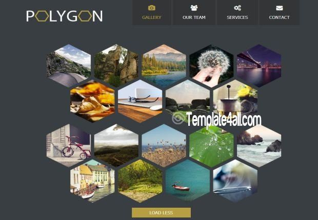 Responsive HTML5 CSS3 Gallery Template Download