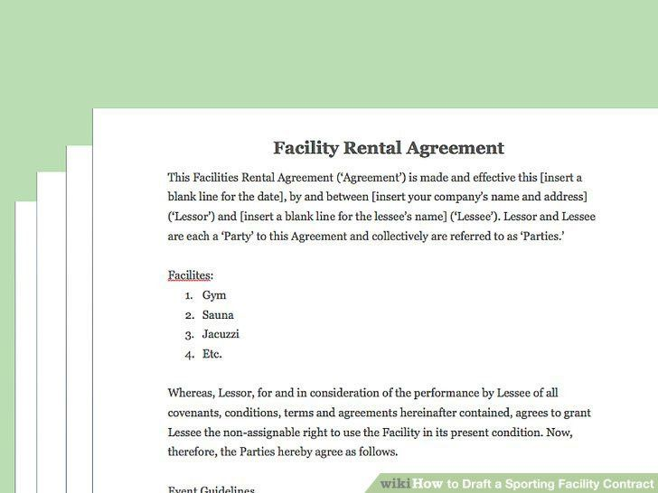 How to Draft a Sporting Facility Contract (with Pictures)