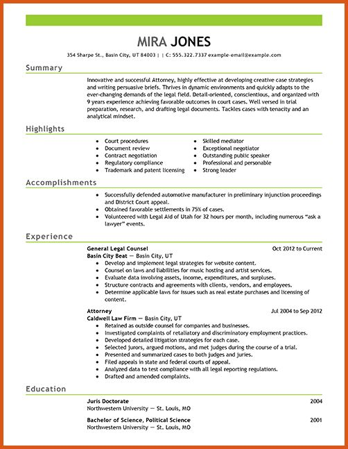 sample attorney resume | general resumes
