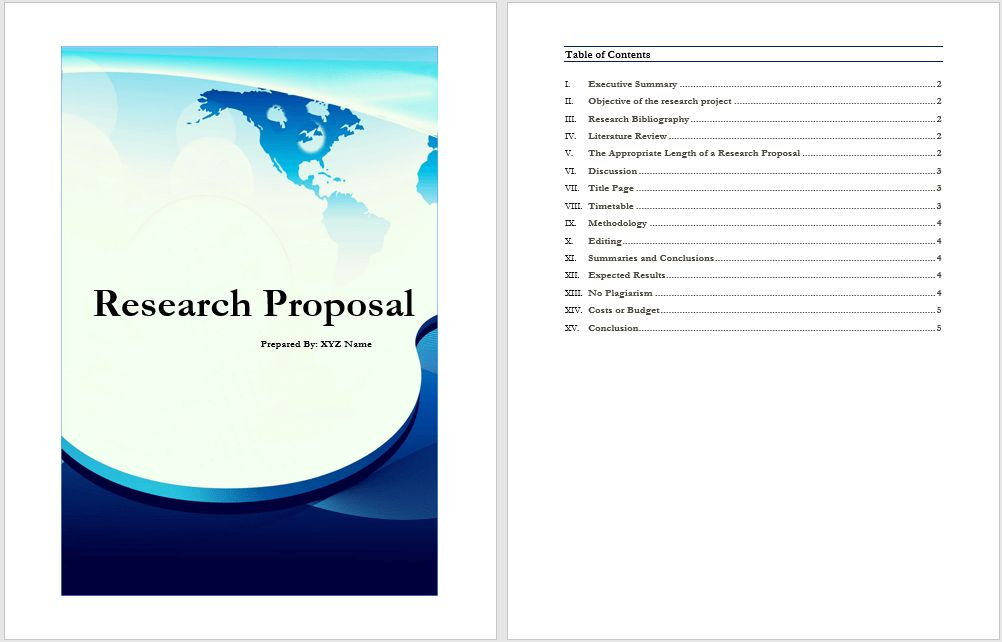 28+ Research Proposal Template Word | Sample Research Proposal ...