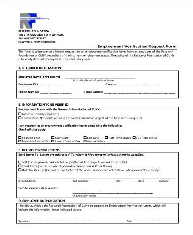 Employee Verification Form Samples - 9+ Free Documents in Word, PDF