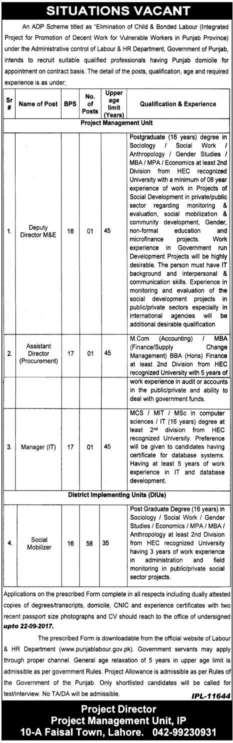 Administrative Control of Labour & HR Department Jobs (61+ ...