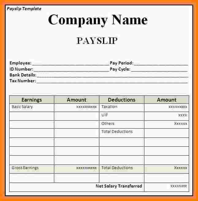 Domestic Worker Payslip Template. 11 payroll templates free sample ...