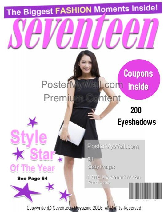 Seventeen Magazine Cover template | PosterMyWall