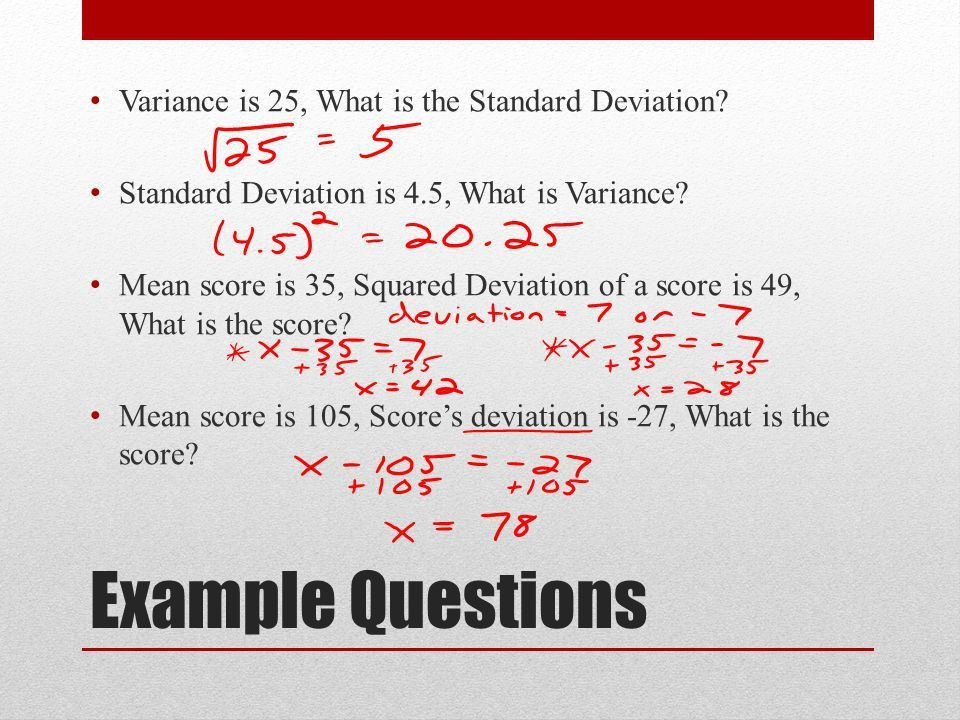 Chapter 1 Lesson 7 Variance and Standard Deviation. - ppt download