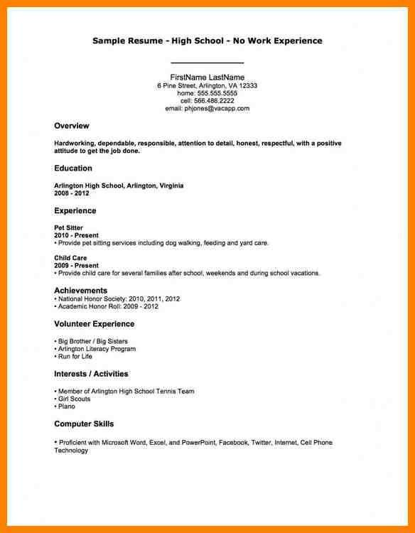 Sample First Resume Format. resume format sample with no work ...