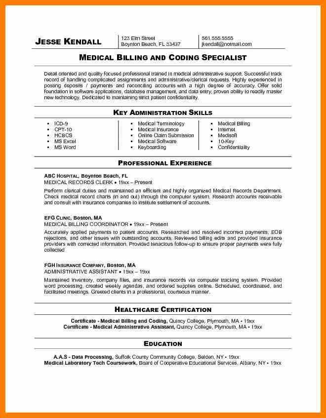 certified medical coder resume medical coding resume medical