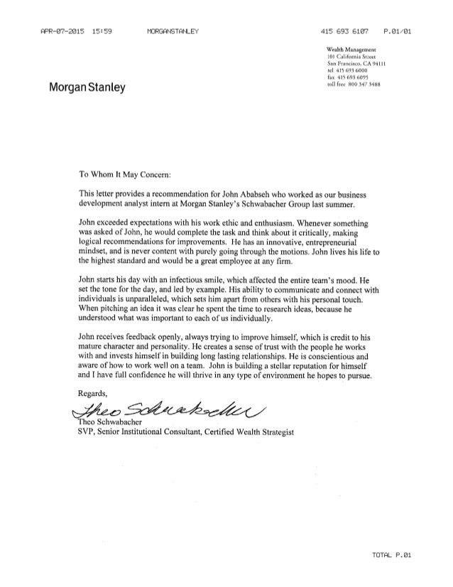 Stanley Letter of Rec