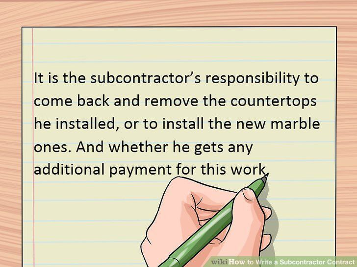 How to Write a Subcontractor Contract: 13 Steps (with Pictures)