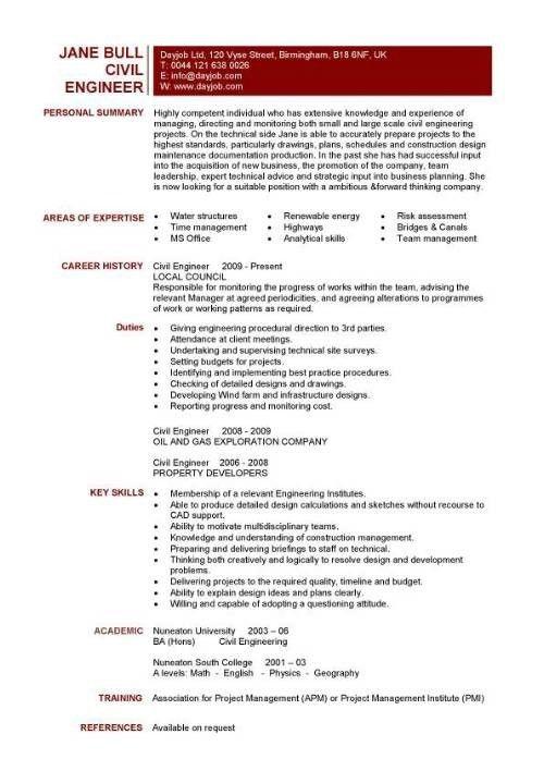 Civil Engineer Resume Sample | jennywashere.com