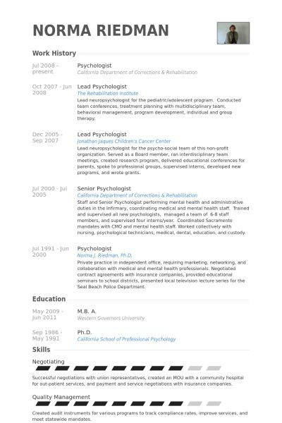 sample psychology resume psychology graduate resume sample