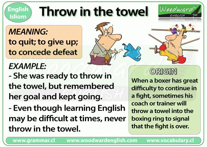 Throw in the towel – idiom | Woodward English