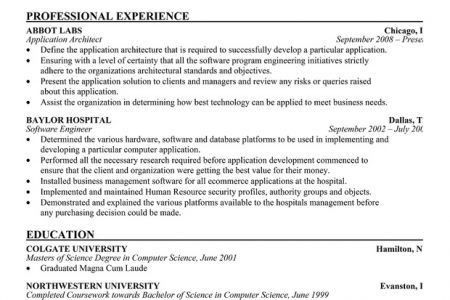 Architecture Products Image: Architecture Resume Sample, Examples ...