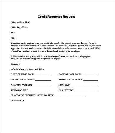 Credit Reference Letter - 9+ Free Word, PDF Documents Download ...
