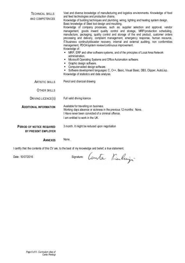 CV Pierluigi_Canta - 10.07.2016 - With cover letter