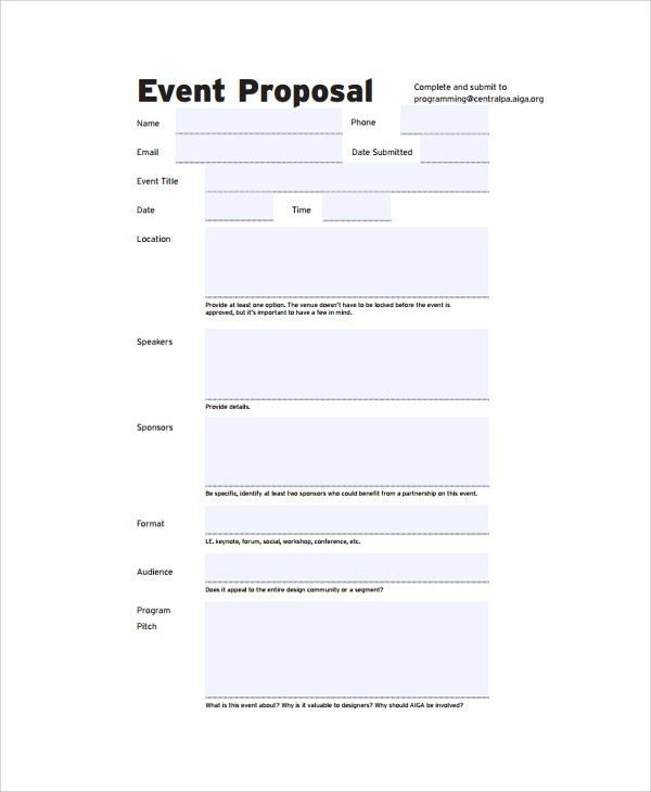 Sample Proposal Template - 19+ Documents in PDF, Word