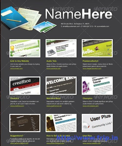 Best 40 Portfolio Brochure Design Print Templates | Frip.in