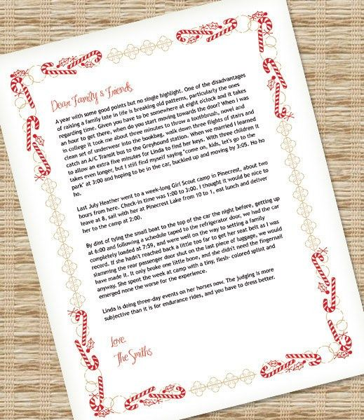 Christmas Letter Template for MS Word – Download & Print