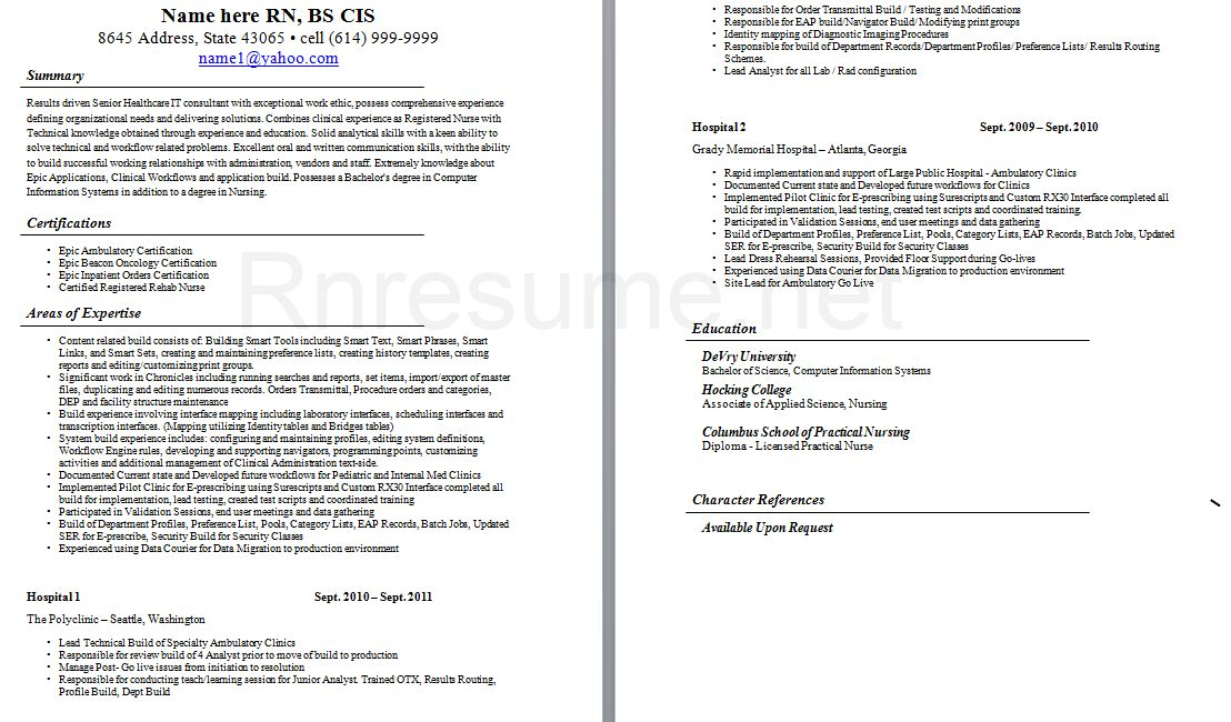 gallery of icu nurse resume sample. sample icu rn resume rn resume ...