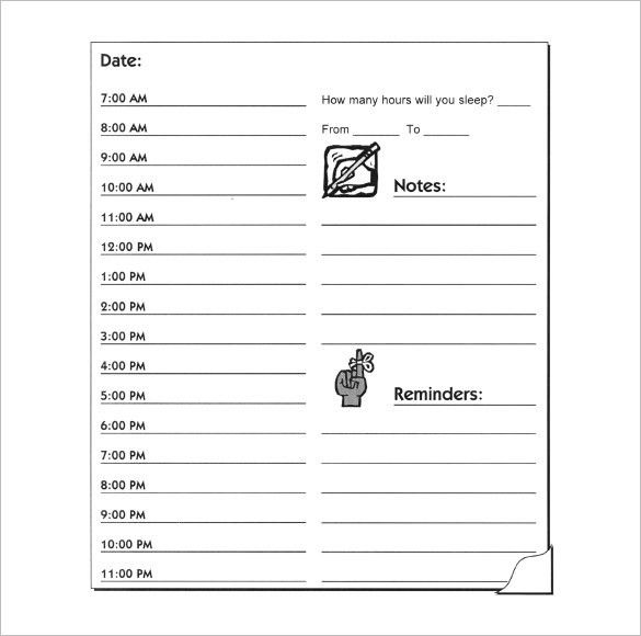 Hourly Schedule Template - 25+ Free Word, Excel, PDF Format | Free ...