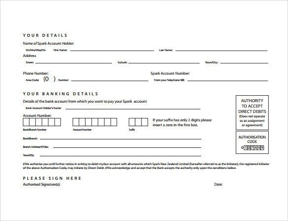 Direct Debit Form - 10+ Download Free Documents In PDF, Word
