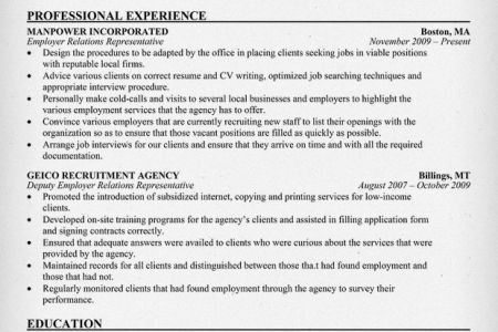 Sample Resume: Human Resources Manager Resume Of Director, Labor ...