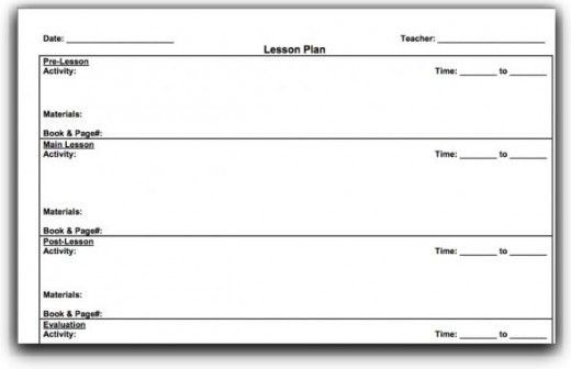 lesson plan template for elementary school teachers teaching ...
