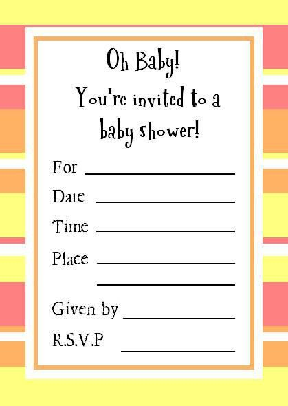 Perfect and Free Printable Baby Shower Invitation