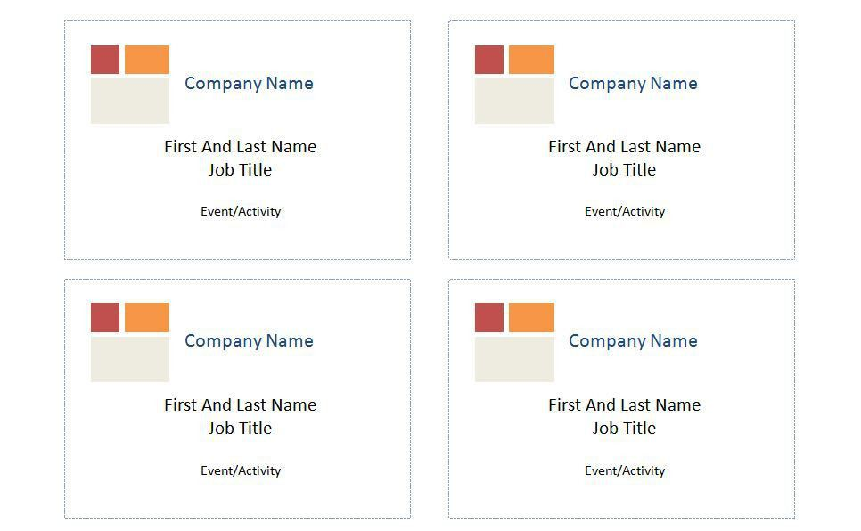 Name Badge Template | cyberuse