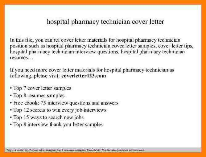 10+ sample cover letter for pharmacy technician | joblettered