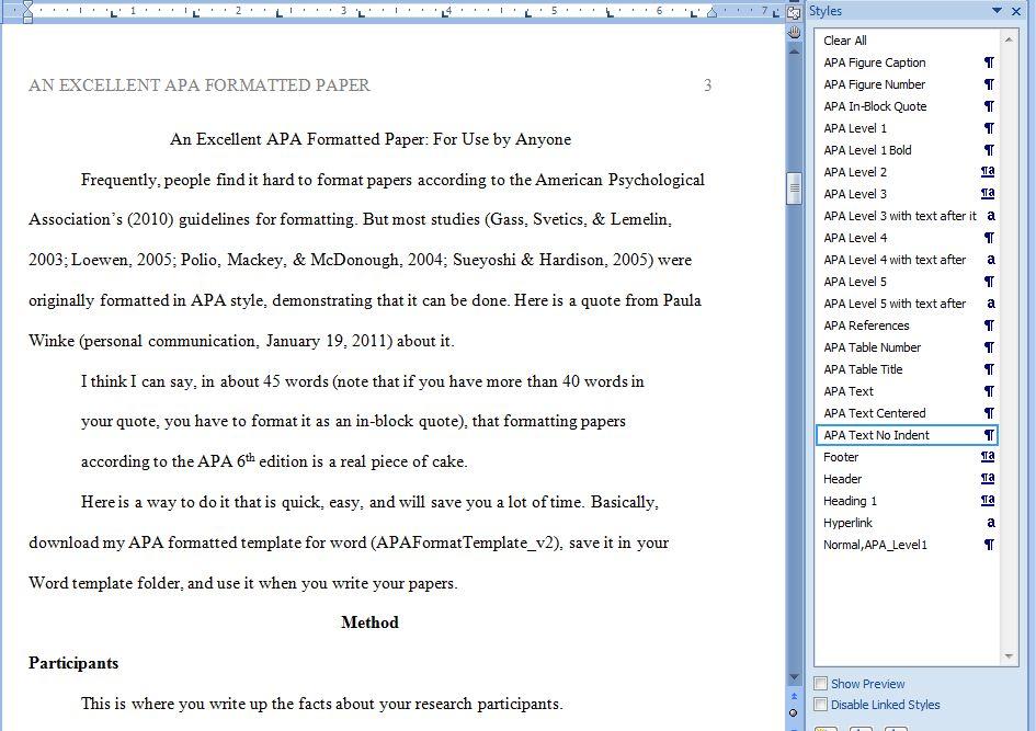 apa format sample essay