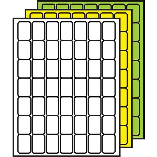 """Demco.com - Demco® Colored Processing Labels 1-1/2"""" x 1"""" Rounded ..."""