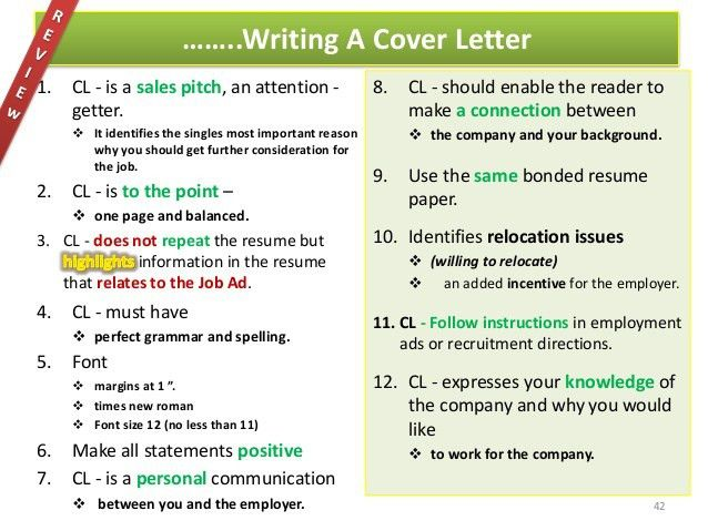 Cover Letters the Get Results