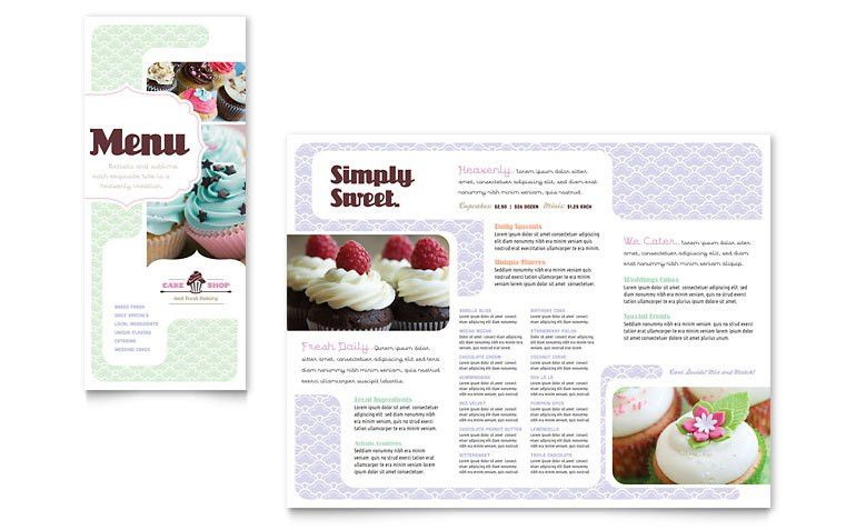Bakery & Cupcake Shop Menu Template - Word & Publisher