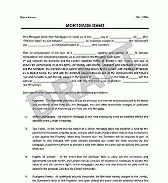 Create a Free Mortgage Deed - Download & Print | Legal Templates