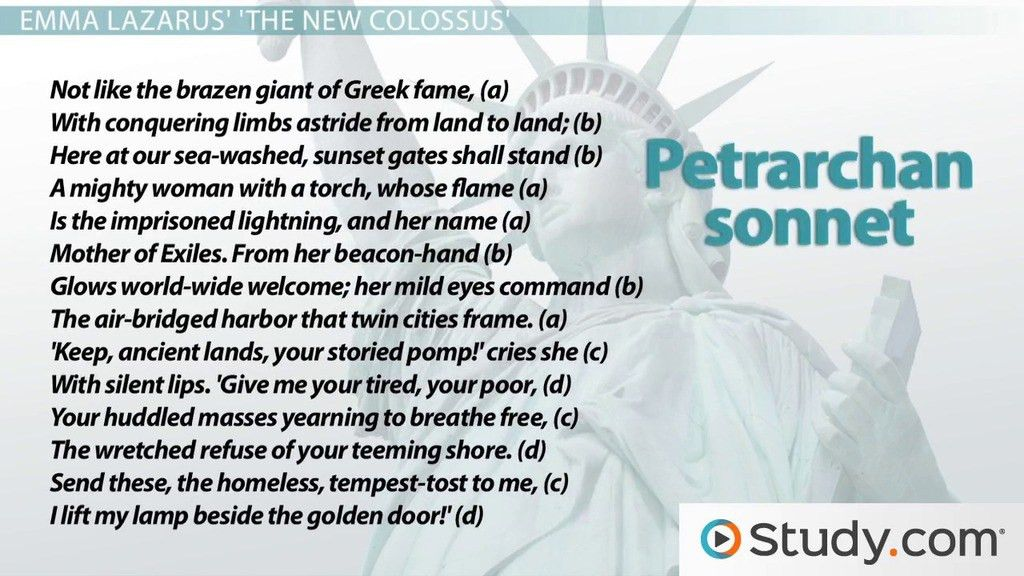 Petrarchan Sonnet: Rhyme Scheme, Format & Example Poems - Video ...